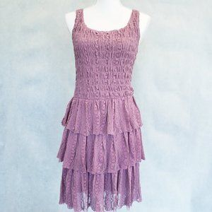 Free People Vintage Tiered Lace Ruffle Dress